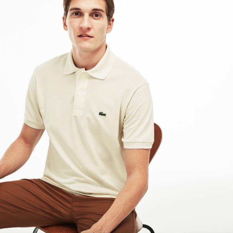 LACOSTE(法国鳄鱼)男士时尚简约纯色短袖POLO衫L1212XL1