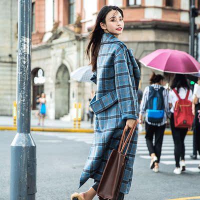 名媛淑女双面羊绒大衣女中长款2018秋冬新款赫本风呢子外套
