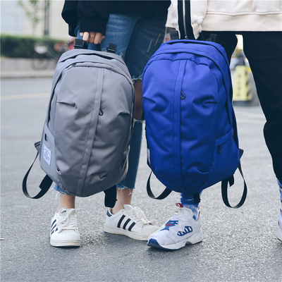 Backpack men's fashion casual canvas backpack simple wild school bag female outdoor travel bag sports