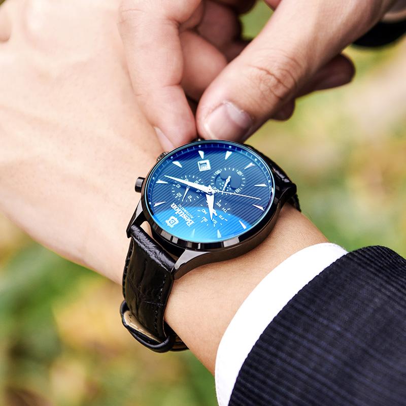 邦顿手表男士时尚2018新款全自动机械表防水网红抖音冷淡风男表