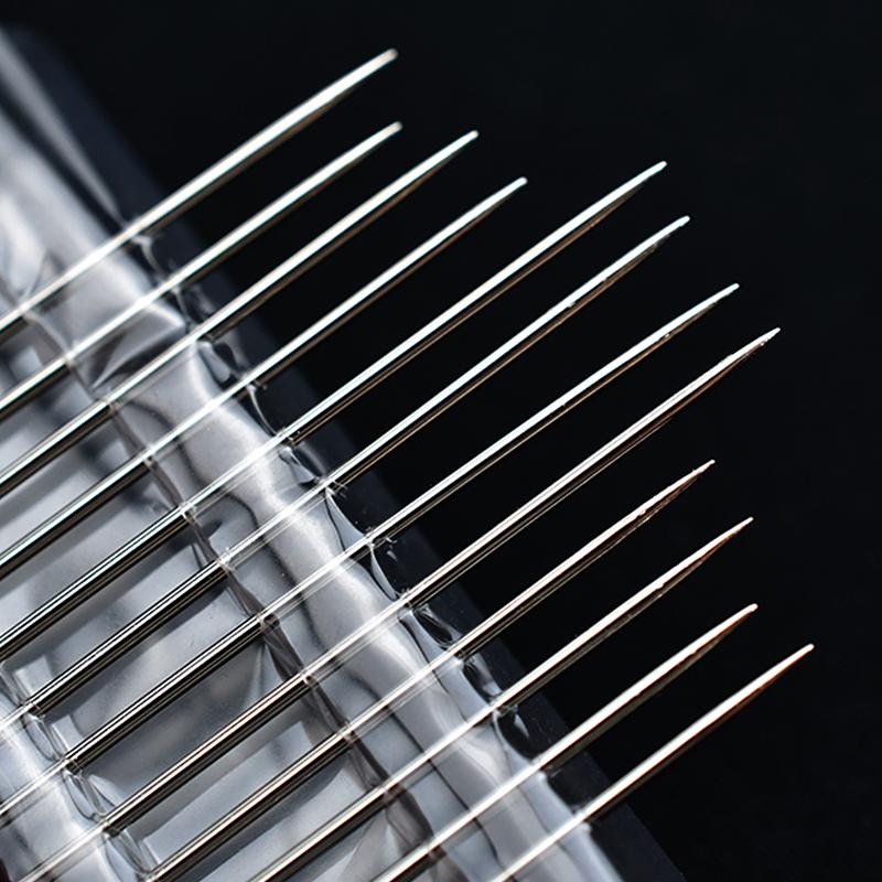 免穿针家用手缝针老人用缝衣服针缝被子针大号不用穿线的针盲人针