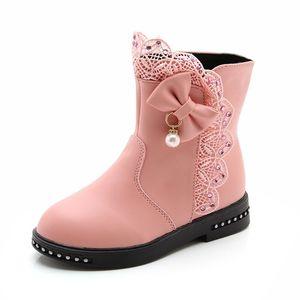 女童靴子秋冬长靴2017新款韩版儿童马丁靴女加绒公主中高筒短靴子