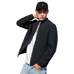 布衣传说立领休闲夹克男青年韩版修身棒球服外套上衣服帅气外衣潮