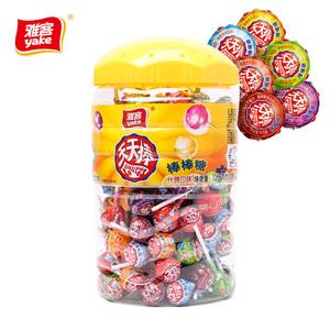 雅客天天棒棒糖1260g(约120支)桶装棒糖果儿童礼物多口味零食圆棒