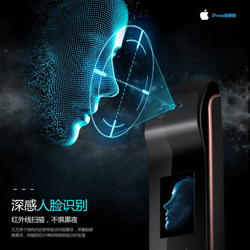 蒂丰德人脸识别全自动智能锁指纹锁家用防盗门电子锁大门锁密码锁
