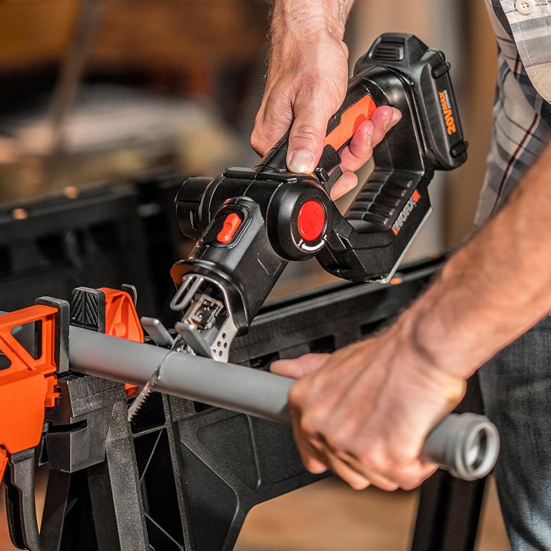 威克士多功能电锯WX550 家用小型曲线锯往复锯木工切割机电动工具