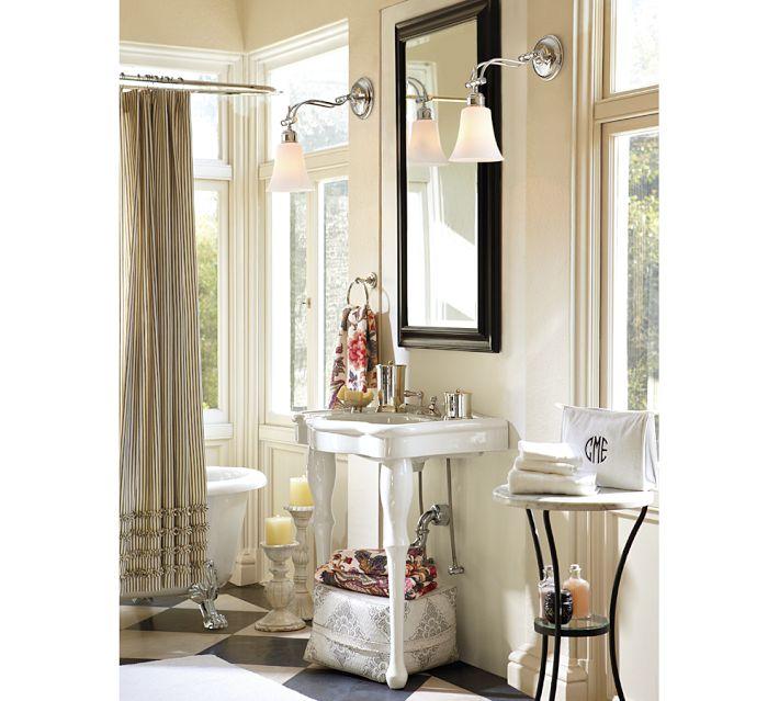 Шторы для ванной Американский элегантный темперамент полосой кружева оборки хлопок занавеска для душа