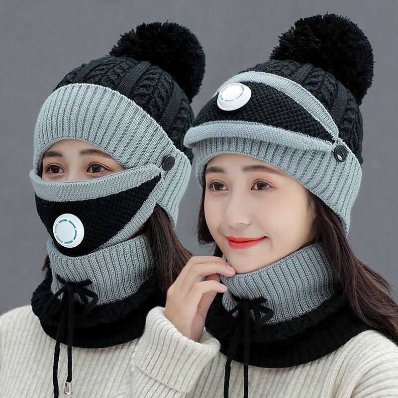 【抢!加绒帽子】围脖三件套户外保暖防寒帽加厚骑车防风护耳套头