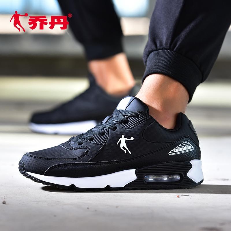 乔丹鞋男运动鞋2018秋季新款气垫鞋黑色旅游鞋轻便正品男士跑步鞋