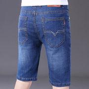 夏季薄款牛仔短裤男五分裤休闲中裤男士宽松直筒马裤