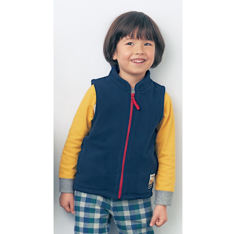 千趣会BABY&CHILD婴儿童装男宝车印装饰摇粒绒马甲C00361
