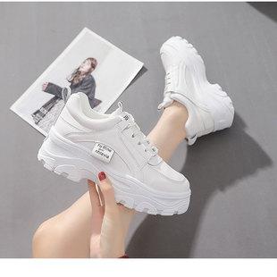 2021春季新款百搭小白鞋女学生韩版厚底