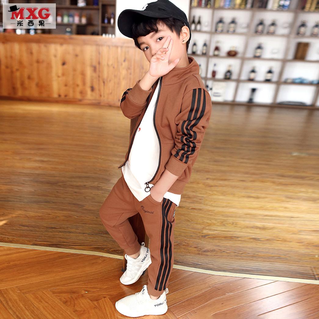 米西果童装男童春装套装2018新款儿童运动服小孩衣服中大童春秋款