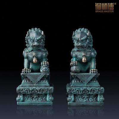 铜师傅 全铜摆件《王府狮(尊礼版)》 工艺品 装饰品铜狮子