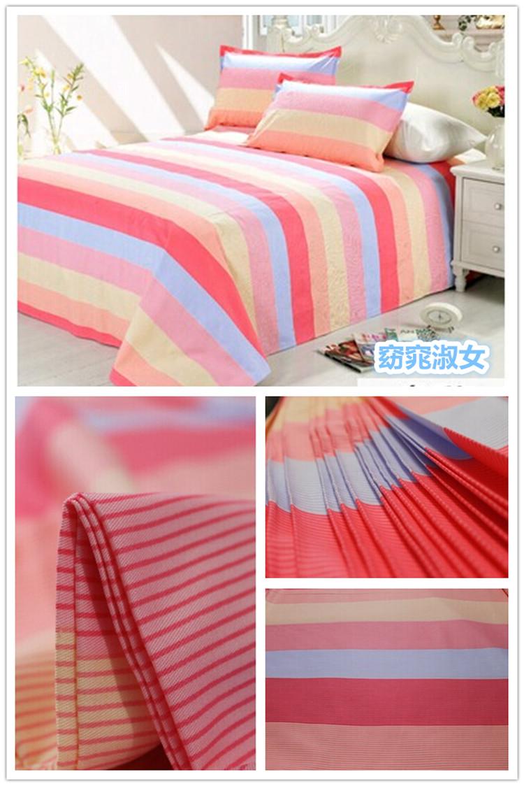 宽幅纯棉斜纹面料清仓定做床品被罩套四件套床单被单批发全棉布料  花图片