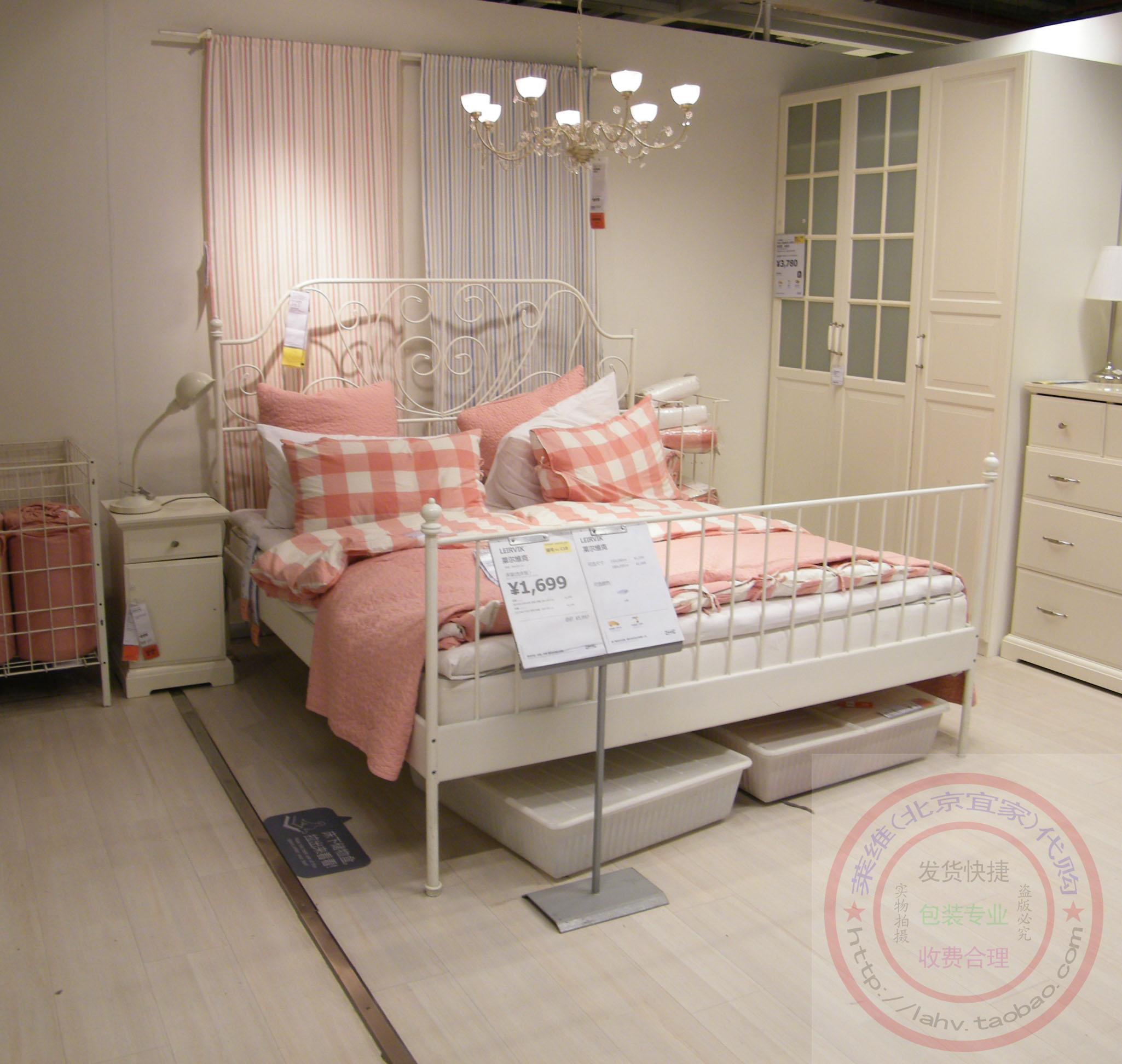 find more ikea leirvik white metal bed frame full double