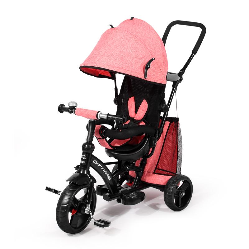 儿童三轮车脚踏车1-3-6岁宝宝自行车大号轻便童车折叠婴儿手推车