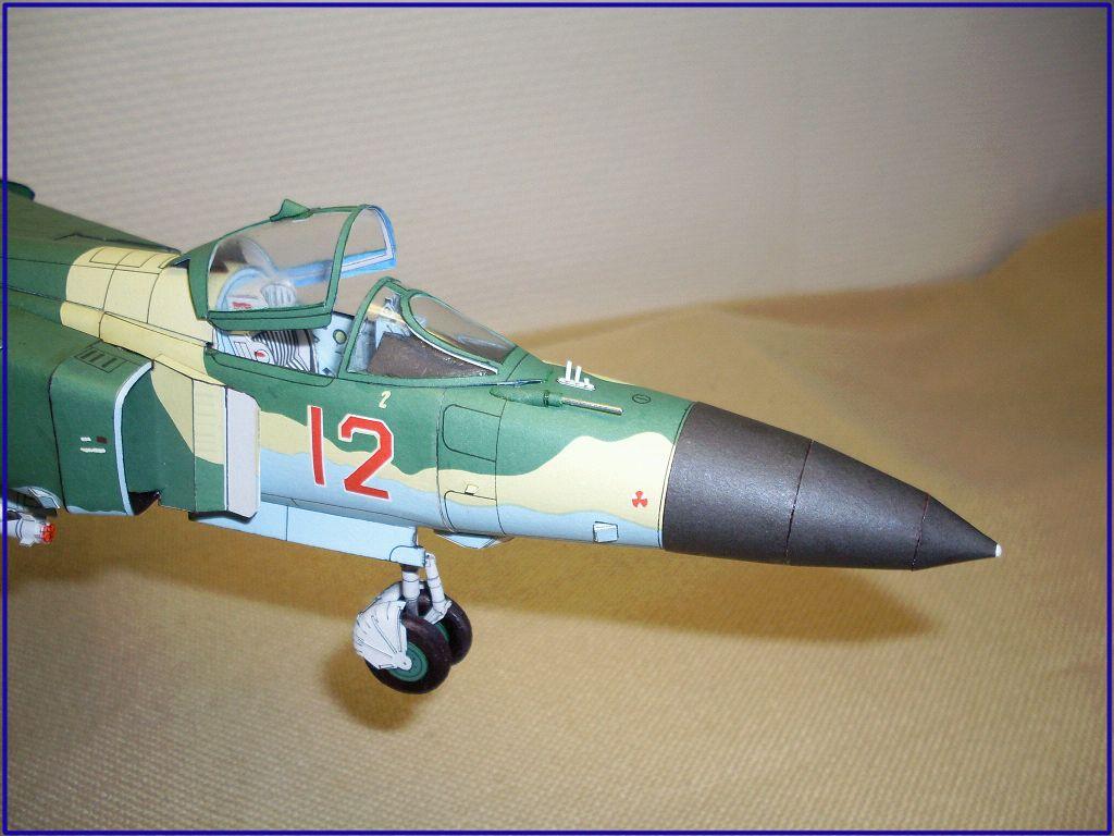 苏联米格mig23战斗飞机航模3d纸模型diy手工制作工作图纸彩色涂装
