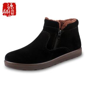 老北京布鞋加绒加厚男棉鞋