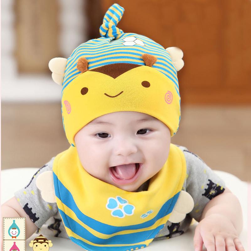 新生儿婴儿帽子秋款0-6月纯棉套头帽宝宝睡觉帽子卡通可爱包邮产品展示图5