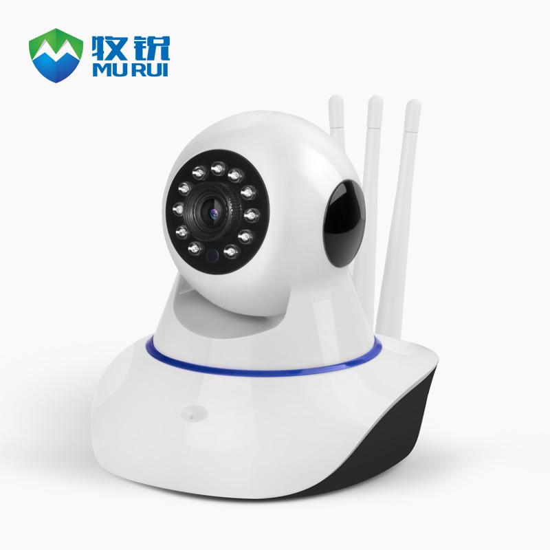 牧锐无线摄像头监控家用手机远程wifi网络夜视高清家庭智能监控器