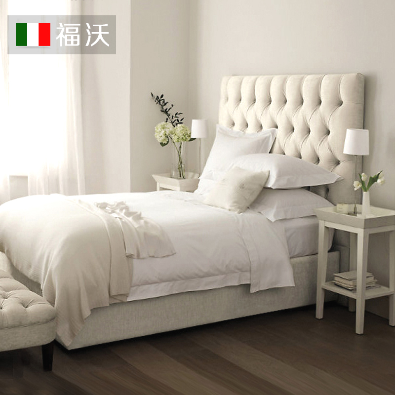 福沃北欧布艺床简约现代主卧双人美式可拆洗欧式简欧布床小户型床