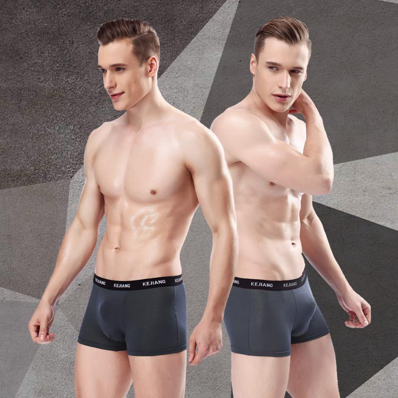 天天特价 5条装 透气吸汗男士内裤 U凸设计 莫代尔性感平角裤