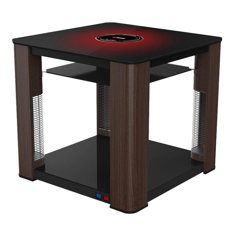 贵州火焰山电暖桌取暖桌电暖炉取暖炉家用正方形烤火桌子 取暖器