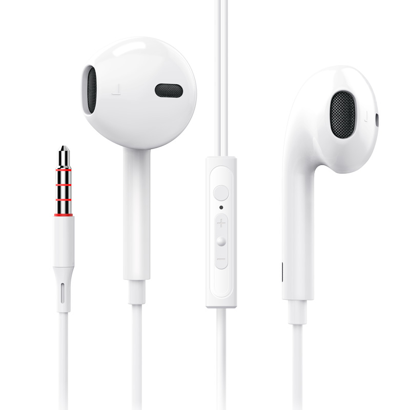 FANBIYA Q1 subwoofer Apple Android mobile phone universal boys and girls 6 in-ear earphones sports cable control with wheat karaoke HIFI music cute hanging ear headset 6s