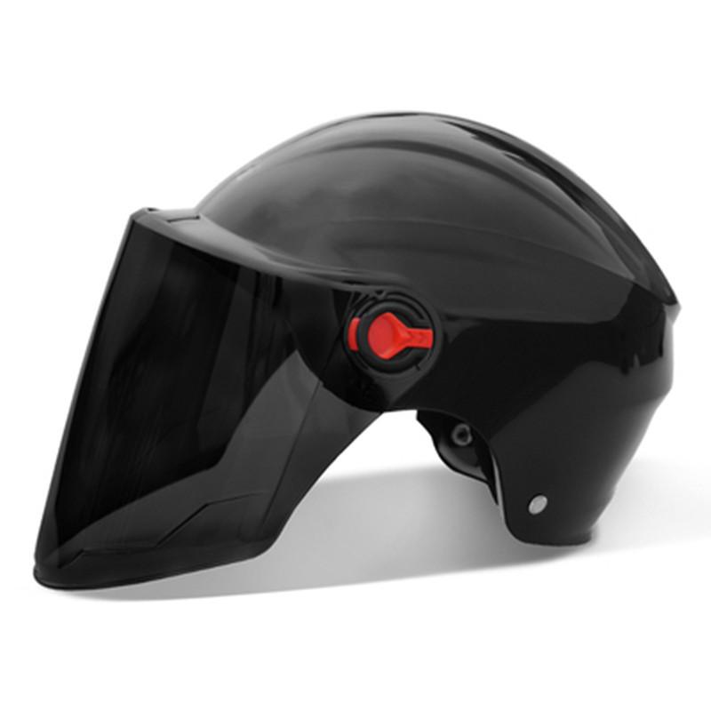 电动电瓶车头盔灰男女士款夏季防晒可爱夏天安全帽四季通用全盔