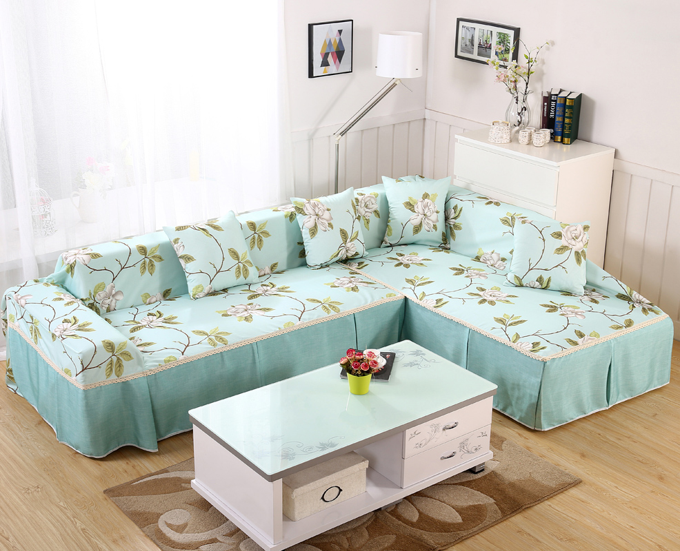 Full Cover Universal Sofa All Inclusive Simple Modern Cushion Combination L Shaped Chaise Longue Garden Towel