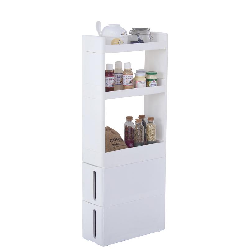 厨房置物柜塑料收纳柜冰箱窄缝架子置物架抽屉式缝隙收纳架宽17CM