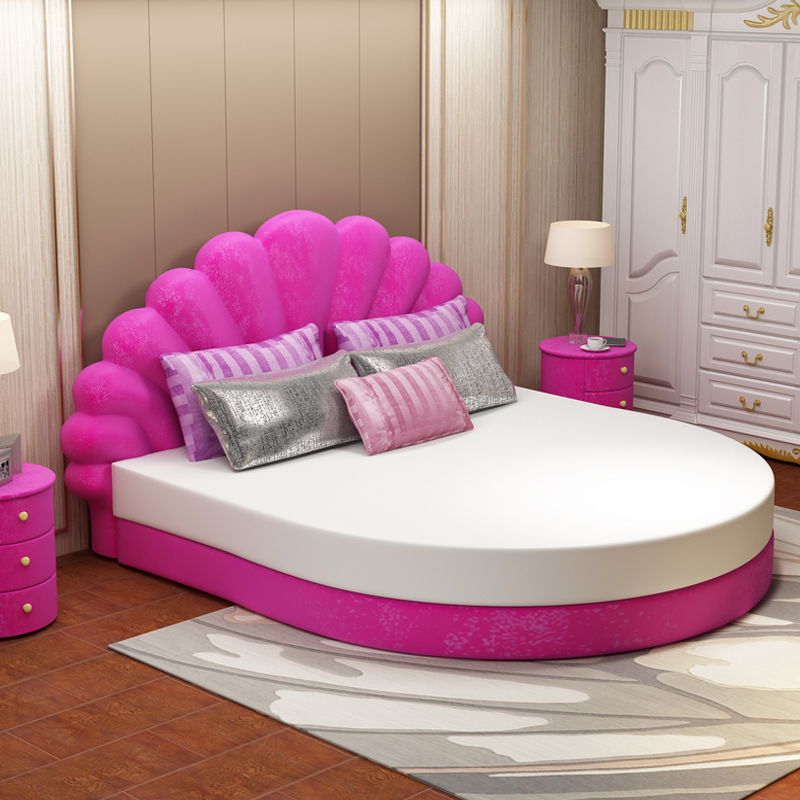 Round Bed Double Bed Wedding Bed Modern Minimalist Princess Bed