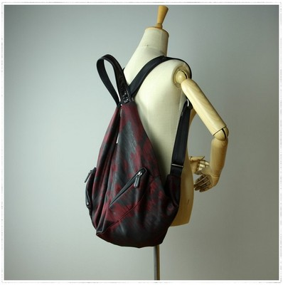 """DRAGANA-833#"" nylon leather cowhide leather bag for men and women for shoulder and shoulder dual-use travel backpack"