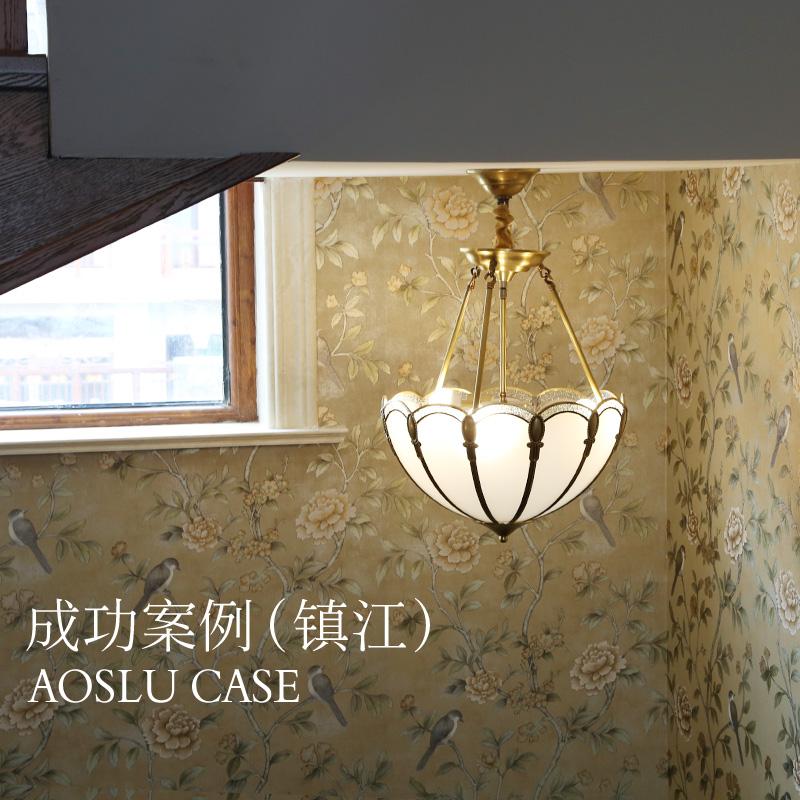 奥施洛欧式餐厅吸顶灯 奢华全铜家用灯具高端简约轻奢复古灯饰