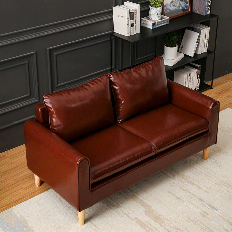 新款北欧布艺沙发小户型双人三人简约卧室租房现代公寓网红服装店