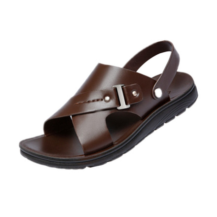 太平狼 男士凉鞋新款夏季青年头层牛皮防滑沙滩鞋休闲鞋男皮凉鞋