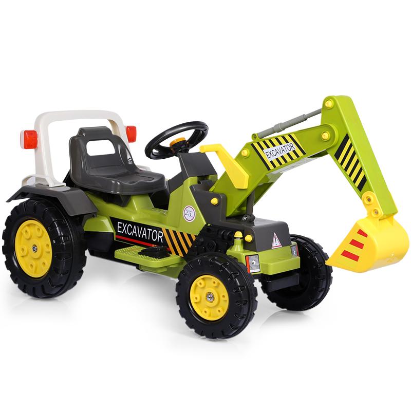 韵优宝儿童挖掘机玩具可坐可骑工程车大号男孩电动挖土机2-3-6岁