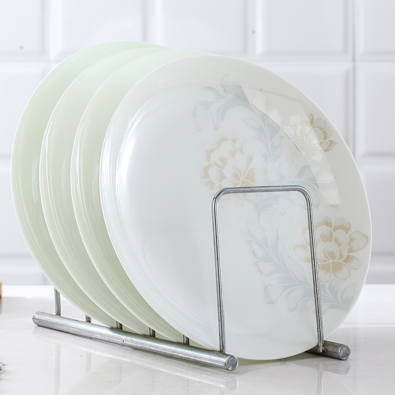 Jingdezhen four pack 】 【 ipads porcelain ceramic disc compote dish plate 8 inches on platter CD plates suit household