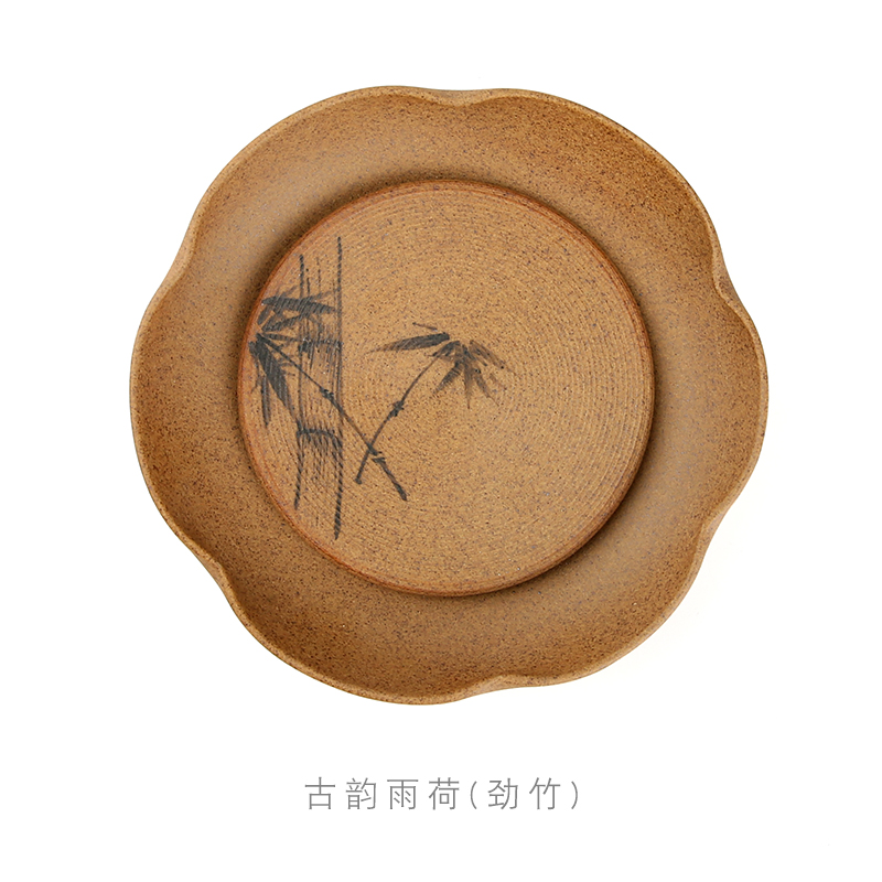 Three frequently to crude earthen POTS dry socket mercifully stage of jingdezhen ceramic tea set a pot of disc saucer plate tea zero S72001
