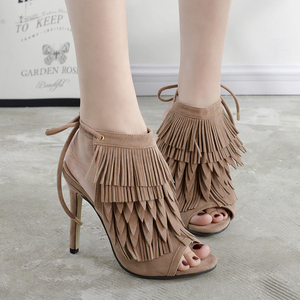 Tassel high heels, Ladies fashion shoes