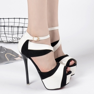 Matching high heel Platform sandals - Golden
