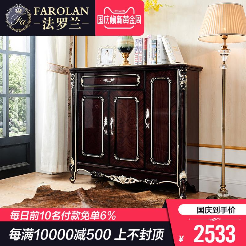 欧式鞋柜简约现代门厅柜阳台储物柜玄关实木进门门口鞋柜G8801