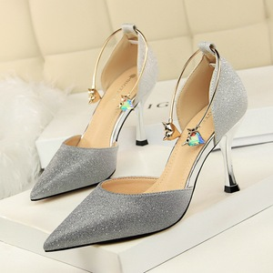 313-6 han edition hollow high shoes with color matching color gradient hollow point diamond metal one word with sandals