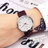 Korea Korean fashion watches female student waterproof male table minimalist fashion leather belt quartz watch lovers watch one pair