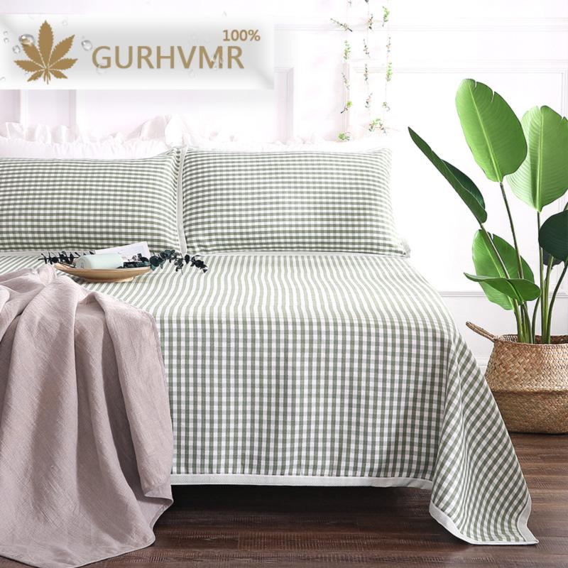 亚麻凉席三件套1.8m床夏季凉席1.5米1.2单双人空调软席子亚麻床单