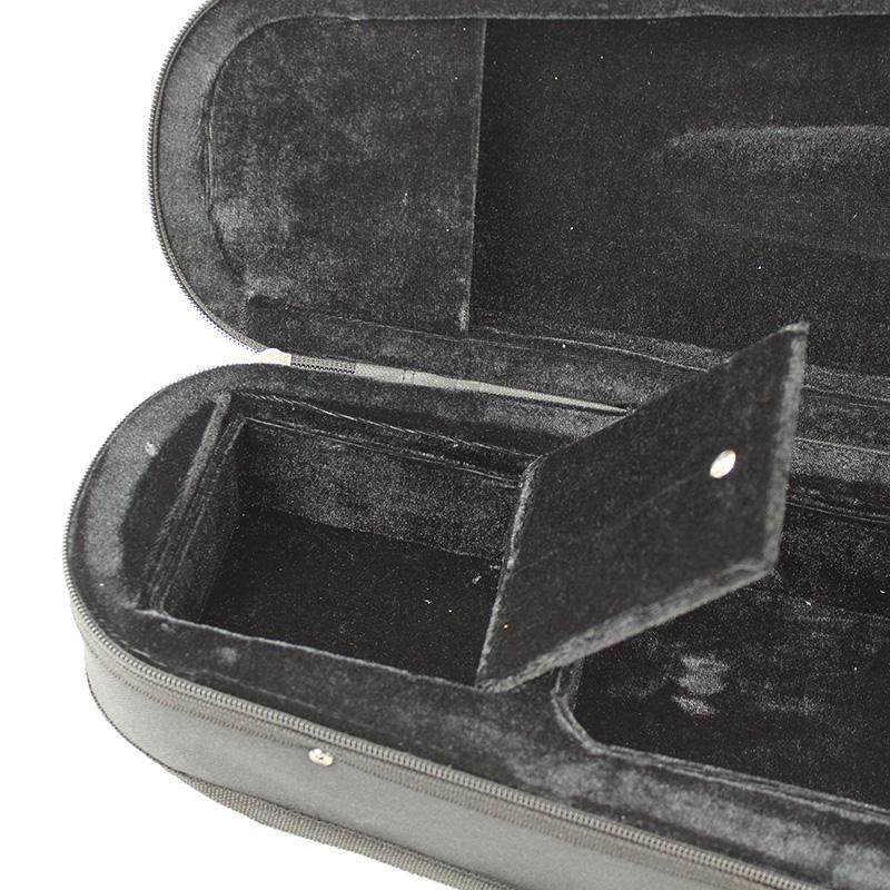 Футляр Случае черный треугольник скрипка случае поле 4/4-1/8 портативный двойного плеча хлопок дерево диск оригинальный скрипка футляр для скрипки