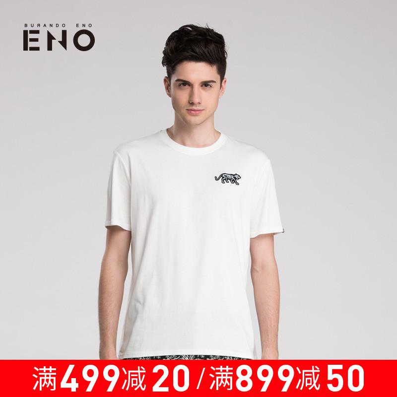 BURANDO ENO潮牌男式休闲短袖T恤个性印花上衣青少年 E6SUM42907