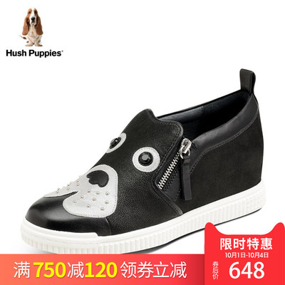 Hush Puppies-暇步士秋专柜同款羊皮女休闲狗狗鞋HLX38CM7