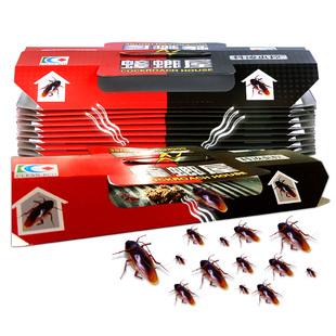 10枚蟑螂屋捕捉器灭蟑螂药克星家用强力灭蟑清杀蟑螂贴粘板全窝端